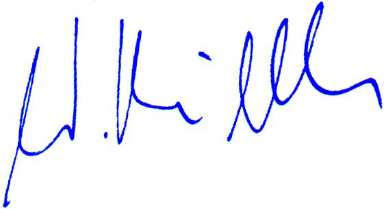 Unterschrift blau